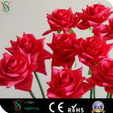 Artificial Single Steam Rose Flower Light for Wedding Decoration