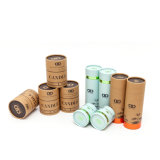 Cheap Factory Cbd Hemp Oil/Candle/Cosmetic/Bottle Kraft Paper Tube Packaging Box with Gold Stamping