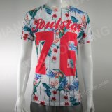 Fashion 2021 Colorful 100%Polyester Jersey Mens Short Sleeve T-Shirt with Full Print
