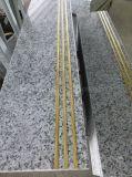 G439 Cheap Grey/White Granite Tiles Antislip Stairs Polished Steps Risers