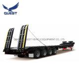 50-60ton Gooseneck Lowboy Truck Tractor Low Flatbed Semi Trailers