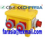 Mobile Industrial Socket Combination Power Box, Electrical Enclosure Plug Socket Box