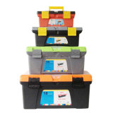 Plastic Truck Tool Box with Handlle Tray Compartment Storage Lockable Tool Box