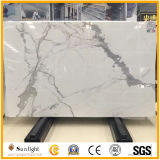 Polished Italian Calacatta White Marble for Countertops, Bathroom Vanity Tops