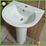 Competitive Price 20 Inch Ceramic Pedestal Wash Basin