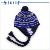 Knit Beanie Pattern Fashion Lady Knit Earflap Hat
