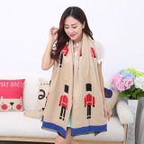 Lady Fashion Acrylic Woven Fringed Jacquard Winter Shawl (YKY4440)
