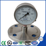 High Quality 100mm Stainless Steel Pressure Gauge with Flange Connection