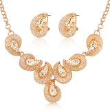 Gold Plated Necklace Earrings African Women Wedding Jewelry Set