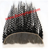 """Ear to Ear 13""""X4"""" Lace Frontal Closure Deep Wave, Wholesale Hair Extension, 100% Human Hair Remy Hair, Favorable Price"""