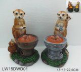 Outdoor Animal Figurine with Solar Light