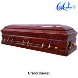 Cloth Covered Casket Emperor Half Couch Coffin and Casket
