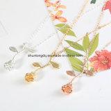 Bijoux Femme Collier 2018 New Pink Gold Rose Flower Statement Necklace Women Charm Maxi Choker Boho Jewelry Graduation