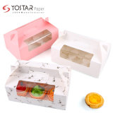 Cheap Small Cake Packaging Paper Box with Clear Window