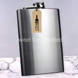 Stainless Steel Novelty Silver Hip Flasks 8oz for Liquor