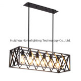 Jlc-4018 Industry Restaurant Bar 6 Light Pendant Hangging Chandelier Lamp