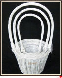 Wicker Willow Flower Garden Planter
