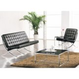 Modern Home Living Room Office Furniture Barcelona Office Leather Sofa