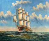 Wholesale Oil Painting Sailboats on Canvas for Home Decor (EWL-051)