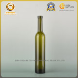 Green 500ml Uniue Design Glass Wine Bottle with Cork (032)