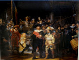 Handmade Rembrandt Night Watch Oil Painting for Home Decor