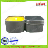Painted Colored Square Shape Tin Candles Decoration for Candle Making