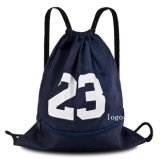 Solid Color Drawstring Polyester Basketball Bag