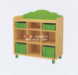 Cute Design Children Wood Toy Storage Cabinet Used Nursery Furniture for Sale (SF-13W)