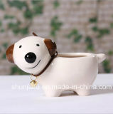Ceramic Animal Type Flowerpot For Home Decoration
