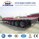 Cheap Shipping Container 4 Axles Semi Flatbed Truck Trailer