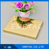 304 201 Grade Mirror Gold / Gold Mirror Sheet/ Color Stainless Steel Sheet for Decoration
