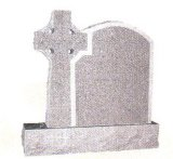 Natural Stone Grey Granite Tombstone Monument SF-014 for Cremetery Garden