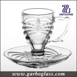 3oz Small Glass Tea Set of Cup & Saucer (TZ-GB09D0303TW)