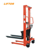 Liftor CE Forklift 1t 2t 3t Hydraulic Manual Hand Stacker Pallet Stacker Forklift Manual Reach Stacker Price