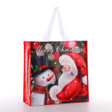 Custom Printed Eco Friendly Christmas Gift Laminated PP Non Woven Tote Shopping Bag
