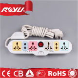 Universal Multicolor 6 Outlet Power Strip with Individual Switches