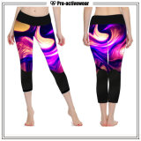 Wholesale Customized Printed Pattern Women Sportswear Capri Yoga Pants