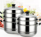 Stainless Steel Cookware Steamer Set with Silicone Handle
