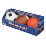 3 Ball Set Plastic PVC Toy Gift for Baby