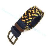 Fashion Alloy Pin Buckle Braided Stretch Belt