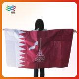 Custom Digital Printing Polyester Qatar Body Cape Flag