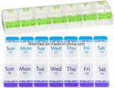 Push Button 7 Days Weekly Plastic Pill Box