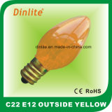 C22- E12 Outside Colorful Candle Incandescent Bulb