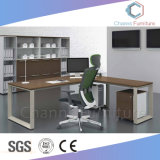 Fashion Metal Frame Office Furniture L Shape Manager Table (CAS-MD1839)