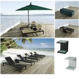UV-Resistant PE-Rattan Folding Outdoor Beach Sun Lounger Chaise Lounger