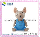 New Design Wholesale Plush Mouse Toy with Supender Trousers