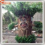 Evergreen Ornamental Artificial Cartoon Ficus Tree