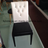 Modern Leather Cafe Chair with Wood Legs (FOH-CXSC71C)
