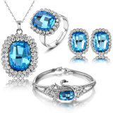Gorgeous Sapphire Austrial Crystal Beads Wholale Set Fashion Jewelry Set