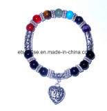 Natural Semi Precious Stone Crystal Beaded Charming Bracelet Gemstone Jewelry
